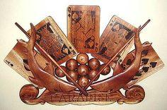 """Portrait Plaque Wood Carving"" Paradise's Game Room Plaque - Wood Carving  oceania-art.com"