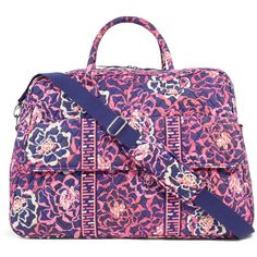 Vera Bradley Grand Traveler Bag in Katalina Pink ($120) ❤ liked on Polyvore featuring bags, luggage, katalina pink, travel and travel bags