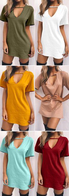 T-shirt Dress Fall Trendy Ideas Cute Casual Outfits, Chic Outfits, Spring Outfits, Fashion Outfits, Casual Dresses, Kohls Dresses, Dresses Dresses, Casual Jeans, Summer Dresses