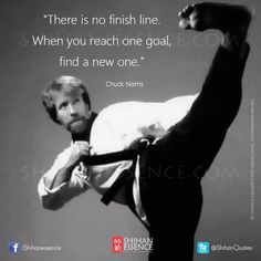 Chuck Norris: art of being in relation leads to refinement, deepening, widening, expanding along the way healing occurs opening the door to conscious embodiment & embodied consciousness Warrior Spirit, Warrior Quotes, War Quotes, Qoutes, Motivational Quotes, Chuck Norris, Aikido, Jiu Jitsu, Dojo