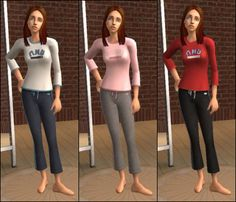 Mod The Sims - -Conversion Content- UNI Undies, PJs, and Sportswear for Teens!