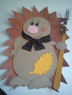 Crafts with children Henrietta Animal Crafts For Kids, Fall Crafts For Kids, Diy For Kids, Diy And Crafts, Arts And Crafts, Paper Crafts, Diy Paper, Hedgehog Craft, Daycare Crafts