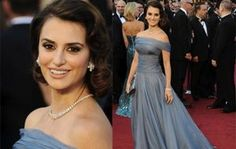 """Also at the Oscars was Penelope Cruz who was adorned with a diamond necklace and earrings combo that was a perfect match to her gown. The necklace, referred to as a """"River of Diamonds"""", brought out such a radiant look from Penelope as she gave a picture-perfect pose and accompanying smile."""