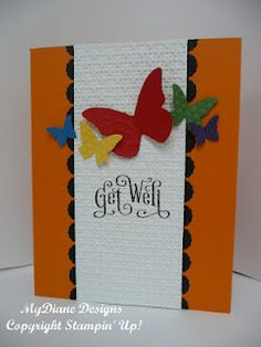 handmade card, cards, get well card, Stampin' Up,