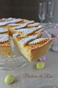 Pastiera di riso ricetta dolce di Pasqua. Made at Easter this is a sweet pie. Delicious.