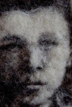 Felted Portrait. Irina Andreeva