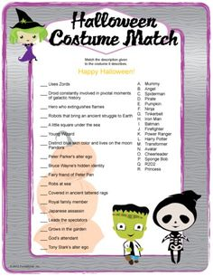 fun halloween printable games - Halloween Monster Trivia