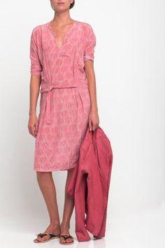 Printed Silk dress ELLEN
