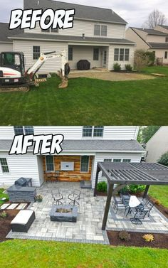 Outdoor Living Patio Area (Before & After) – C. Pontz Sons Landscape Contractors Outdoor Living Patio Area (Before & After) – C. Pontz Sons Landscape Contractors,Outdoor Living This Outdoor Living Patio Area project included. Backyard Patio Designs, Backyard Projects, Pergola Patio, Landscaping Design, Pergola Kits, Pergola Ideas, Landscaping Around Patio, Stone Patio Designs, Backyard Pavers