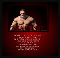 black dagger brotherhood - Zsadist son of Ahgony. The picture is crap for him!!!