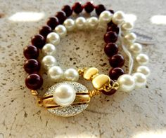 Vintage Italian, dated 1960-2 pearl bracelets, beautiful jewelery and great clasp -art.794-