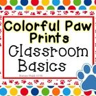 This set includes everything you will need to begin decorating your classroom. The set was created to add a paw print theme in your primary classro...