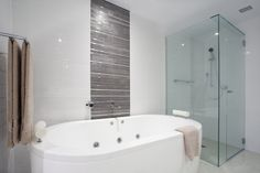 Bathroom and shower in white shades