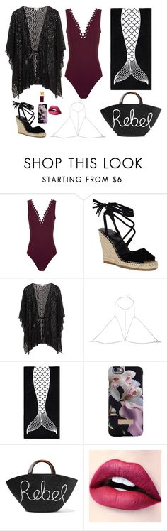 """Untitled #1271"" by nine-nine ❤ liked on Polyvore featuring Karla Colletto, Grace Bijoux, PBteen, Ted Baker, Eugenia Kim and Yves Saint Laurent"