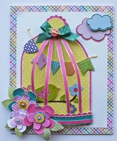Bird Cage Canvas **Little Yellow Bicycle** - Scrapbook.com