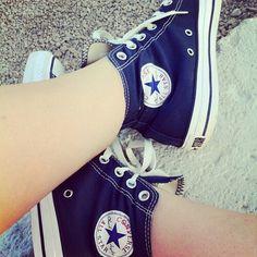 #blue #converse #shoes