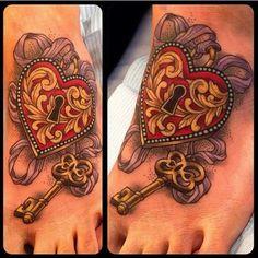 Key to my heart tatto by Lynn Akura