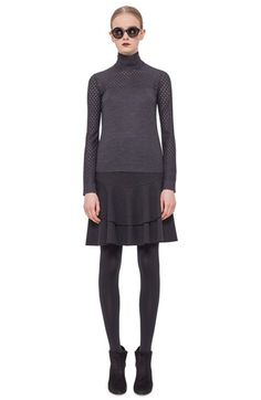 Akris punto Perforated Long Sleeve Wool Sweater available at #Nordstrom