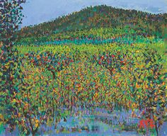 Daiwon LEE(Korean: 이대원, 1921 - ), Farm, 1975, Oil on Canvas, 53×65.1cm