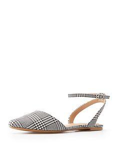 501ddc66cb7a Plaid Pointed Toe Slingback Flats. Slingback FlatsFlat SandalsCharlotte  RussePlaidAnkle