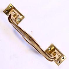 A super quality heavy cast pink brass or bronze door handle £25.00