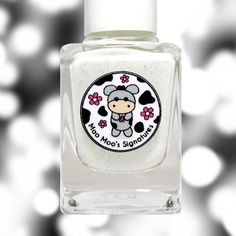 A white crelly with sterling silver shimmer, tiny pink flakies, color-shifting iridescent glitters and silver holo hexes in various sizes. This sha...