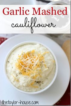 Creamy Garlic Mashed Cauliflower area delicious alternative to mashed potatoes!