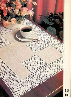 """Photo from album """"""""Decorative crochet"""" on Yandex. Crochet Fabric, Crochet Quilt, Crochet Tablecloth, Crochet Motif, Crochet Designs, Lace Doilies, Crochet Doilies, Crochet Lace, Lace Patterns"""