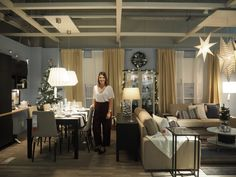 Sala com Natal, sala completa. Por GLIMMER LE BLONDE  #Natal #decoração #bloggers #ikeaportugal