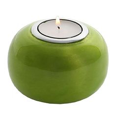 Oh So Pretty Recycled Aluminium Tea Light Holder Lime Tea Light Holder, Natural World, Tea Lights, Recycling, Lime, Enamel, Candles, Amazon, Gifts