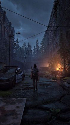 Apocalypse Aesthetic, Apocalypse Art, School Looks, Classy Aesthetic, Aesthetic Art, Fullhd Wallpapers, Tableau Star Wars, Joel And Ellie, The Last Of Us2