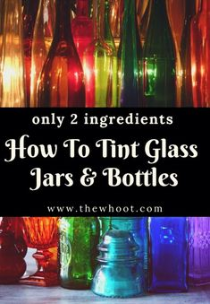 Tinting Glass Jars with Food Coloring and Glue - Video - Gift For You Mason Jar Crafts, Mason Jar Diy, Tinting Mason Jars Diy, Dye Mason Jars, Painting Mason Jars, Painting Wine Bottles, Mason Jar Lanterns, Tinting Glass, Tinted Mason Jars