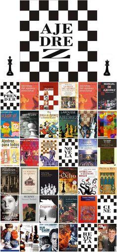 Manuales para aprender a jugar al ajedrez, curiosidades y novelas donde el ajedrez tiene presencia.