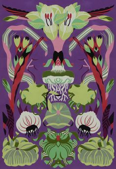 Petra Börner | Swedish artist.  I love the botanical print done here in a very art deco style.  Very interesting.