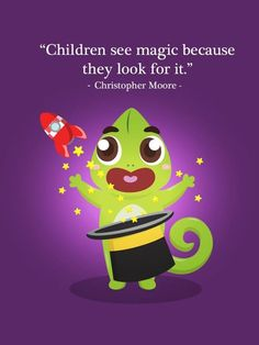 """""""Children see magic because they look for it"""" - Christopher Moore Sekarang magic tidak hanya bisa dilihat di sebuah pertunjukan magic, tapi  Si Kecil bisa melihat magic melalui aplikasi Boci Play: Warna Ajaib. Ayo download aplikasinya di smarthphone kesayangan Anda :) #boci #petualanganboci #appforkids #parenting #mom #anak #ibu #storytelling #apps #quote #family #magic"""