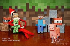 Elf on the Shelf....Night Six- Buddy plays Minecraft | Flickr - Photo Sharing!