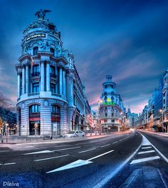 """Gran Via in Madrid, Spain - <a href=""""http://www.flickr.com/photos/dleiva/sets/72157614407459442/show/"""">to see my set Madrid, Click here</a>"""
