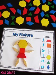 Composing Shapes is such a fun topic in first grade and kindergarten geometry! L… Composing Shapes is such a fun topic in first grade and kindergarten geometry! Learning how to compose and shapes is fun because, well… Kindergarten Centers, Preschool Math, Fun Math, Shape Activities Kindergarten, 3d Shapes Activities, Geometry 2nd Grade Activities, Geometry Games, Teaching Shapes, Primary Maths
