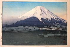 Hiroshi Yoshida, 1876-1950  Ten Views of Fuji: Yoshida Village