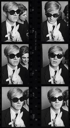 Edie Sedgwick, Andy Warhol and Rabbits, Chez Castel, Rue Princesse, Paris, 1965. Photo by Jean Jacques Bugat #EdieSedgwick #AndyWarhol