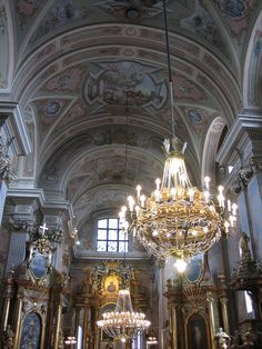 Stunning Interior, St. Anne's Church, Warsaw, Poland by Bencito the Traveller, via Flickr