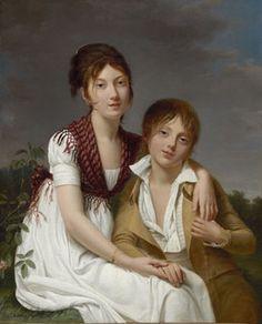 """Portrait of Amélie-Justine and Charles-Édouard Pontois,"" by Adèle Romany by les_merveilleuses, via Flickr"