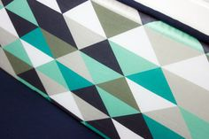 Mint and Navy Crib Bedding Cribset Custom Baby by modifiedtot