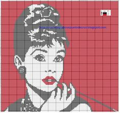 Thrilling Designing Your Own Cross Stitch Embroidery Patterns Ideas. Exhilarating Designing Your Own Cross Stitch Embroidery Patterns Ideas. Audrey Hepburn, Diy Embroidery, Cross Stitch Embroidery, Cross Stitch Charts, Cross Stitch Patterns, Graph Crochet, Crochet Bags, Pixel Pattern, Cross Stitch Pictures