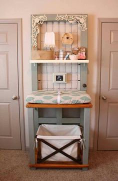Cute diy changing table.