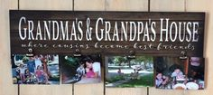 Mother's Day - Grandma & Grandpa's House Cousins Become Best Friends Custom Photo Canvas Photo Clip Frame Wood Sign Christmas, Mother's Day by HeartlandSigns on Etsy