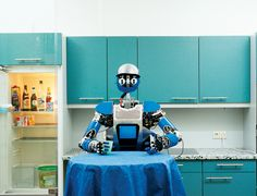 Will remote-controlled robots clean you out of a job? - opinion - 04 December 2014 - New Scientist - Caption:  Who are you looking at? (Image: Yves Gellie/Picture Tank)