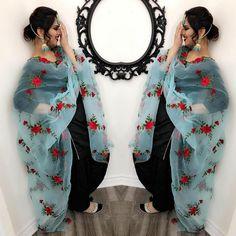 No photo description available. Punjabi Dress Design, Punjabi Suit Neck Designs, Patiala Suit Designs, Kurti Designs Party Wear, Simple Kurta Designs, Stylish Dress Designs, Stylish Dresses For Girls, Designs For Dresses, Punjabi Suits Designer Boutique