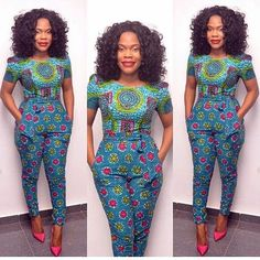 African Ankara Jumpsuit Designs Here we accept Ankara Jumpsuit Designs for this season! We accept anxiously called the New Ankara Jumpsuit designs African Inspired Fashion, African Print Fashion, Africa Fashion, Fashion Prints, African Attire, African Wear, African Women, African Beauty, African Style
