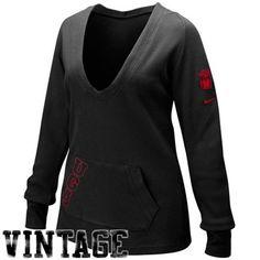 Nike Georgia Bulldogs Ladies Black Peach Thermal Vintage Hoody